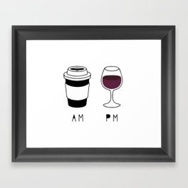 Coffee and Wine Framed Art Print