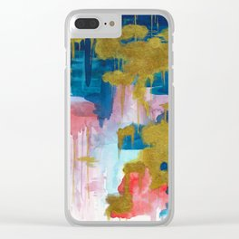 Dripping Gold Clear iPhone Case