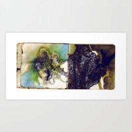 blue glaze Art Print
