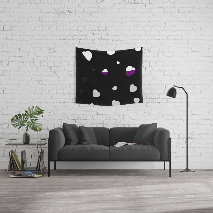 Chaotic Hearts, Pride Flag Series: Demisexual Wall Tapestry