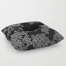LIVING IN BLACK AND WHITE Floor Pillow