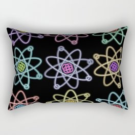 Gold and Silver Atomic Structure Pattern Rectangular Pillow