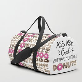 Abs Are Cool But Have You Tried Donuts - Light Duffle Bag