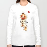 street fighter Long Sleeve T-shirts featuring Street Fighter II - Ryu by Carlo Spaziani