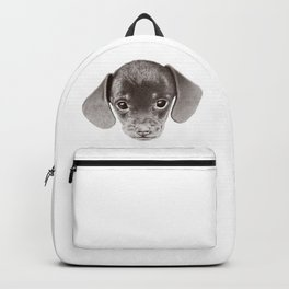 Drawing of dachshund Backpack