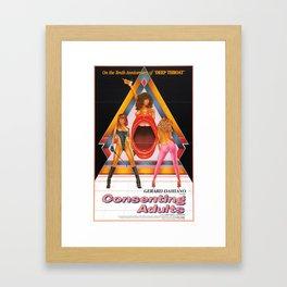 Consenting Adults: Vintage Porn Poster Framed Art Print