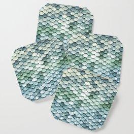 Pastel Mermaid Tail Blue Green Coaster