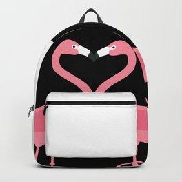 Flamingos Kissing in the Dark Backpack