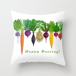 Happy Rooting! Throw Pillow