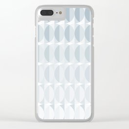 Leaves in the mist - a pattern in ice gray Clear iPhone Case
