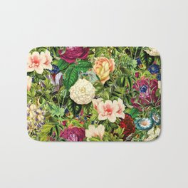 Vintage Floral Garden Bath Mat