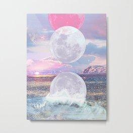 Shining Moon Phases Metal Print