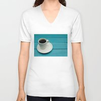 coffe V-neck T-shirts featuring Coffe by Camaracraft