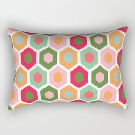 ikat honeycomb tutti fruit #homedecor Rectangular Pillow