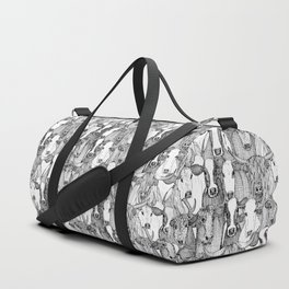 just cattle black white Duffle Bag