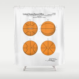 Basketball Patent Shower Curtain