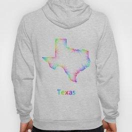 Rainbow Texas map Hoody
