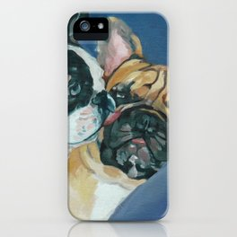Fanci-Pants and Louie French Bulldogs iPhone Case