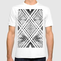 ACID ABSTRACT Mens Fitted Tee MEDIUM White