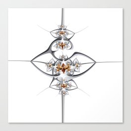 Art deco'ish fractal flower ornament Canvas Print