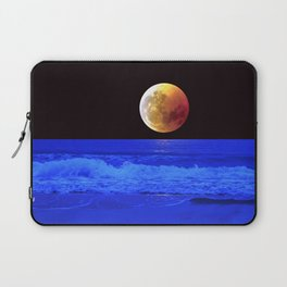 Wonderful Amazing Fairytale Isolated Full Moon And Beach HD Laptop Sleeve