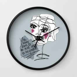 BORN TO BE REAL Wall Clock