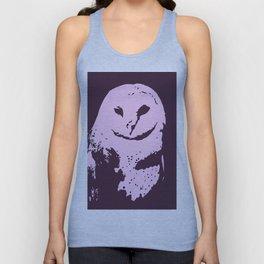 Barn Owl Tyto Alba Purple/Pink Unisex Tank Top