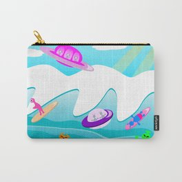 Aliens Go Surfing Carry-All Pouch