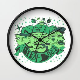 Goofballs Green Wall Clock