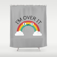 Above Bored Shower Curtain