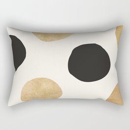 BLACK GOLD DOTS Rectangular Pillow