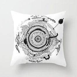 Little planet Throw Pillow