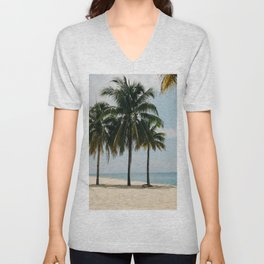 Beach Side Happy Place Unisex V-Neck