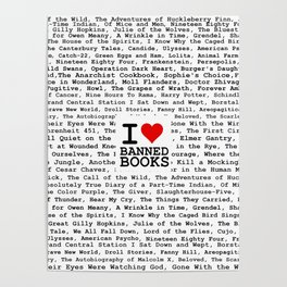 I Heart Banned Books Poster