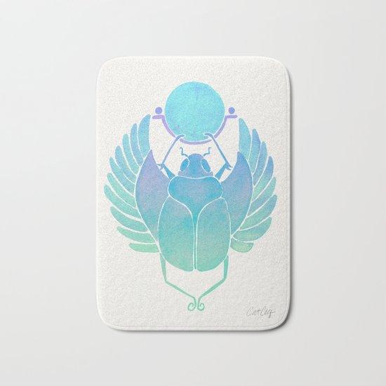 Egyptian Scarab – Turquoise Ombré Bath Mat