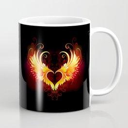 Angel Fire Heart with Wings Coffee Mug