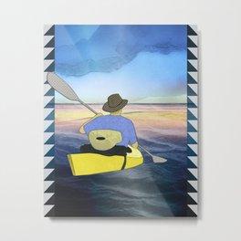 Kayak Man Metal Print