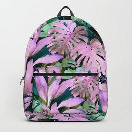 Tropical Night Magenta & Emerald Jungle Backpack