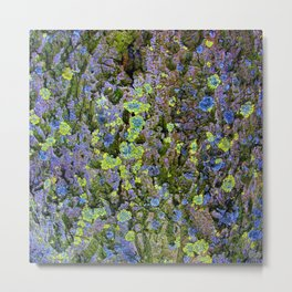 Abstract Flowers Nature Metal Print