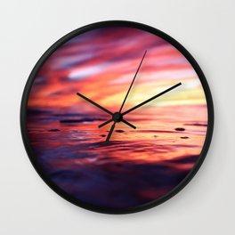 Miniature Sunset Beach Wall Clock