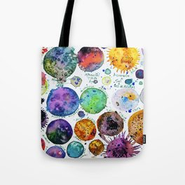 Mini Planets Tote Bag