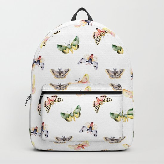Autumn Moths Pattern Backpack