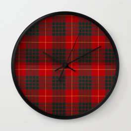 CAMERON CLAN SCOTTISH KILT TARTAN DESIGN Wall Clock