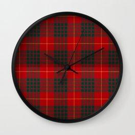 CAMERON CLAN SCOTTISH KILT TARTAN DESIGN Wall Clock