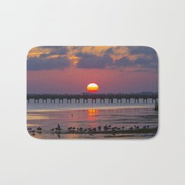 Sunset on the Sound Side Bath Mat