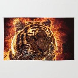 Burning Tiger Rug