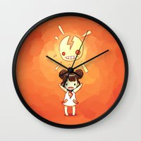 always sunny Wall Clocks featuring Sunny by Freeminds