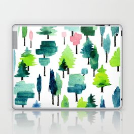 Watercolor forest Laptop & iPad Skin