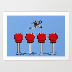 The Big Red Balls of Doom Art Print
