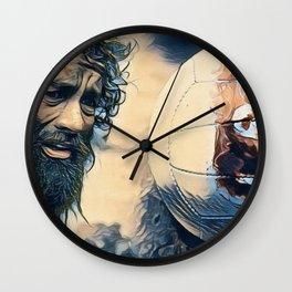Cast Away Long Beard Survivor Alone Island Movie Wall Clock